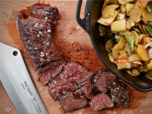 Hanging Tender Steak mit Pak Choi Bratkartoffeln